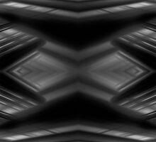 Monochrome futuristic pattern Sticker