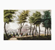 Castle garden, New York - 1848 - Currier & Ives Baby Tee