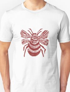 THE BEE (red on tourquoise) T-Shirt