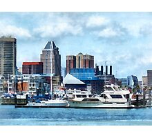 Baltimore Skyline and Harbor Photographic Print