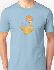 Wild and Brown African Safari Lion Float in Blue Sky on Mountain  Unisex T-Shirt