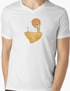 Wild and Brown African Safari Lion Float in Blue Sky on Mountain  T-Shirt