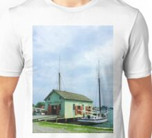Boat By Oyster Shack Unisex T-Shirt