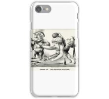 Caved in -  The busted sculler - 1876 - Currier & Ives iPhone Case/Skin