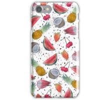 Colorful watercolor tropical summer fruits hand paint iPhone Case/Skin