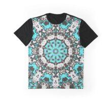 Textural Turquoise Mandala Graphic T-Shirt