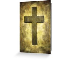 Cross in the light Greeting Card