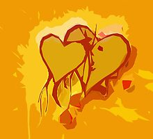 Mellow Yellow Hearts by appfoto