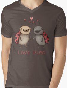Love Pugs Mens V-Neck T-Shirt
