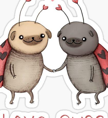 Love Pugs Sticker