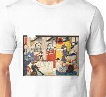 Hiroshige Utagawa - Sogoroku Game - 1860 - Woodcut Unisex T-Shirt