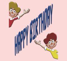 Happy Birthday T-shirt for Boys One Piece - Long Sleeve