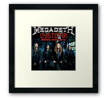 Megadeth TOUR 2016 3 Framed Print