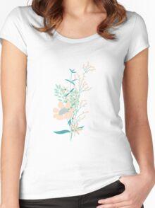 Flower Garden 004 Women's Fitted Scoop T-Shirt