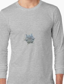 Icy relief, real snowflake macro photo T-Shirt