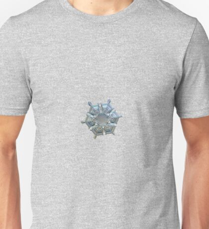Icy relief, real snowflake macro photo Unisex T-Shirt