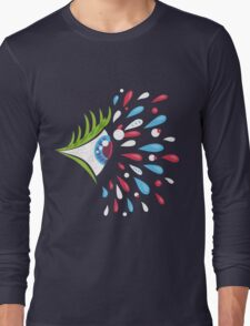 Psychedelic eye - side Long Sleeve T-Shirt