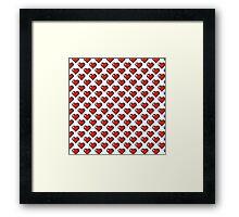 Pixel Hearts Framed Print