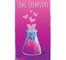 love chemistry cartoon love. Photographic Print