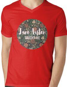 LIT NERD :: JANE AUSTEN TAUGHT ME Mens V-Neck T-Shirt