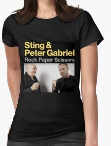 Sting & Peter Gabriel TOUR 2016 4 Womens Fitted T-Shirt