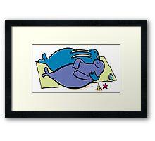 walrus vacation Framed Print