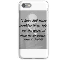Garfield - Many Troubles iPhone Case/Skin