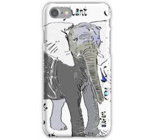 African Elephant, Loxodonta africana  iPhone Case/Skin