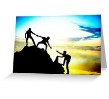 Helping each other to achieve success Greeting Card
