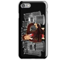 Time traveller captured by mini droid robot iPhone Case/Skin