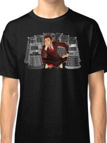 Time traveller captured by mini droid robot Classic T-Shirt