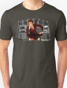 Time traveller captured by mini droid robot T-Shirt