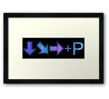 Hadouken Key Combo Framed Print