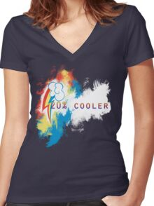 20% cooler Women's Fitted V-Neck T-Shirt