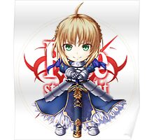 Saber from Fate Stay Night Poster