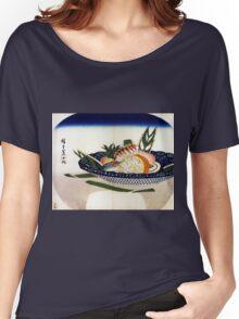 Utagawa Hiroshige Bowl of Sushi Women's Relaxed Fit T-Shirt