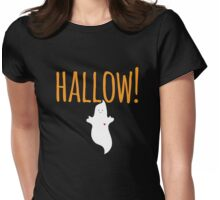 Halloween Hello Ghost Womens Fitted T-Shirt
