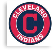Cleveland Indians LOGO TEAM Canvas Print