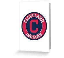 Cleveland Indians LOGO TEAM Greeting Card