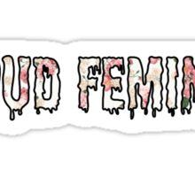 Proud Feminist Sticker