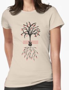 Guitar tree black Womens Fitted T-Shirt