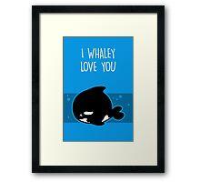 I Whaley Love You Framed Print