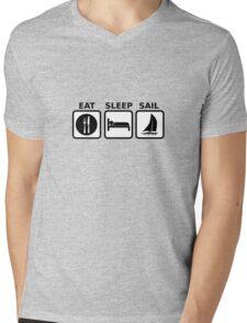 Eat Sleep Sail Mens V-Neck T-Shirt