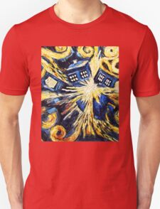 Doctor Who - Tardis Explosion by Van Gogh T-Shirt