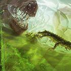 Koumpiodontosuchus aprosdokitii & Neovenator by A V S TURNER