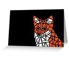 Fox Tile Design Greeting Card