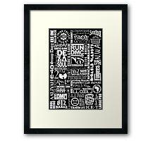 HIPHOP Framed Print