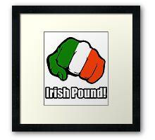 Irish Pound Framed Print