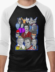 Will Ferrell collage art tribute Men's Baseball ¾ T-Shirt