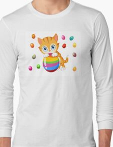 Easter cat Long Sleeve T-Shirt